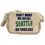 Seattle Baseball Messenger Bag