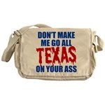 Texas Baseball Messenger Bag