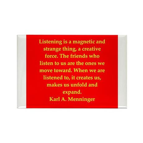 Karl Menninger quote Rectangle Magnet (10 pack)