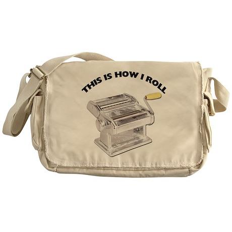 How I Roll Pasta Messenger Bag