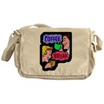 Retro Coffee Break Messenger Bag