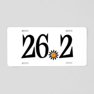 26.2 black orange flower Aluminum License Plate