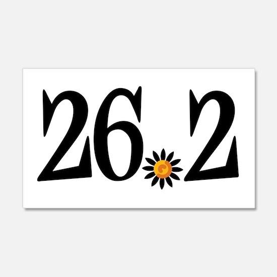 26.2 black orange flower 22x14 Wall Peel