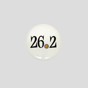 26.2 black orange flower Mini Button