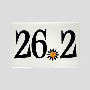 26.2 black orange flower Rectangle Magnet
