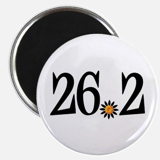 26.2 black orange flower Magnet
