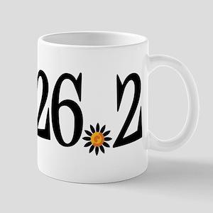 26.2 black orange flower Mug