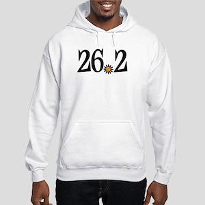 26.2 black orange flower Hooded Sweatshirt