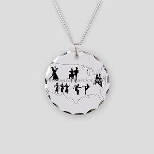 DancingInAmerica.com Necklace Circle Charm