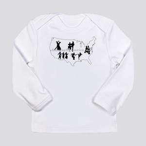 DancingInAmerica.com Long Sleeve Infant T-Shirt