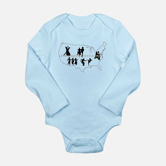 DancingInAmerica.com Long Sleeve Infant Bodysuit