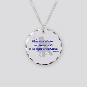 Swing Dance Fools Necklace Circle Charm