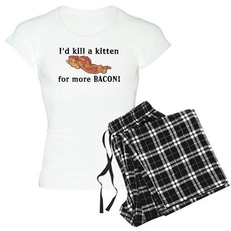 I'd kill a kitten Women's Light Pajamas