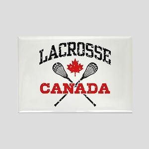 Canadian Lacrosse Rectangle Magnet