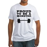 Lift like a MONSTAR Fitted T-Shirt