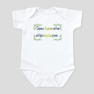 Power Of Tolerance Baby Light Bodysuit