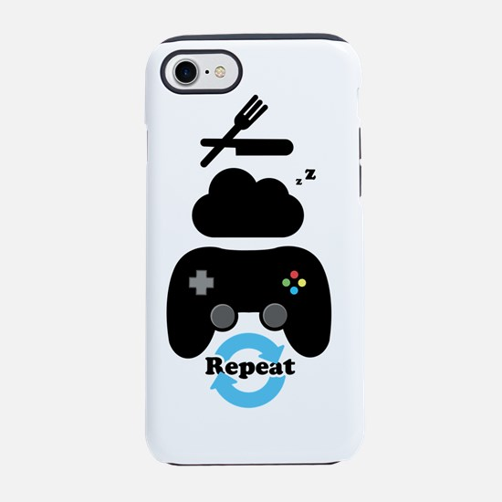 Eat, Sleep, Game, Repeat iPhone 7 Tough Case