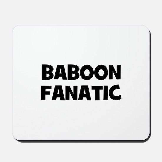 Baboon Fanatic Mousepad