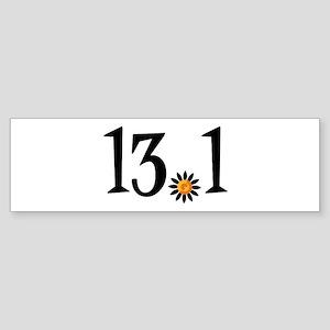 13.1 with orange flower Sticker (Bumper)
