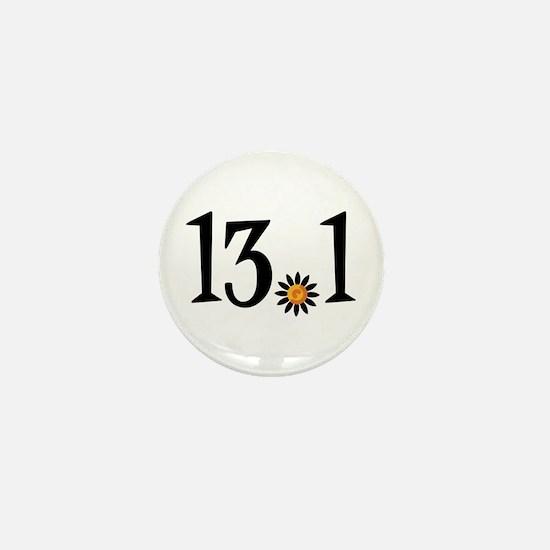 13.1 with orange flower Mini Button