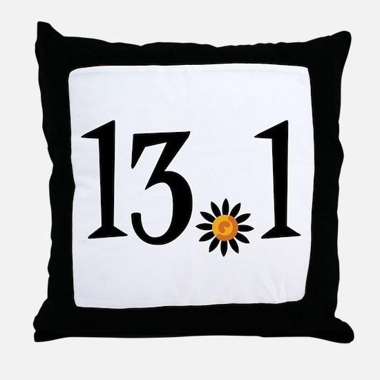 13.1 with orange flower Throw Pillow