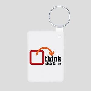 Think Aluminum Photo Keychain