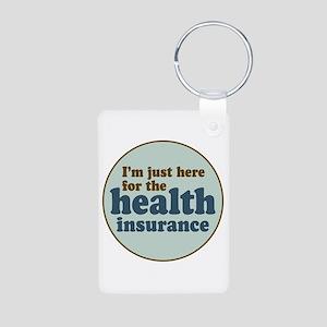 Health Insurance Aluminum Photo Keychain