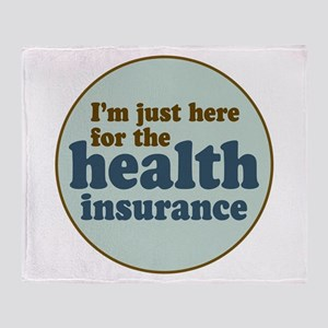 Health Insurance Throw Blanket
