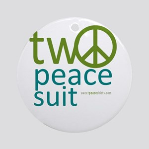 Two Peace Suit Ornament (Round)