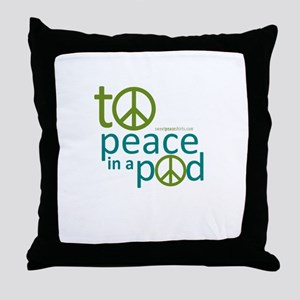 To peace in pod Throw Pillow