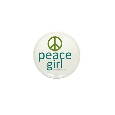 Peace Girl Mini Button