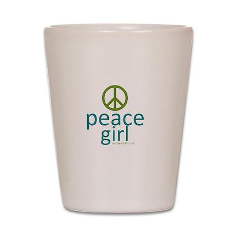 Peace Girl Shot Glass