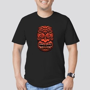 Stone Face Tiki Men's Fitted T-Shirt (dark)