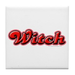 Witch Girly Lady Tile Coaster