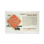 Railway Express Agency 1948 Rectangle Magnet (10
