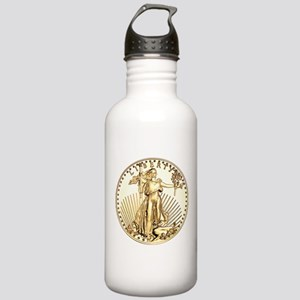 The Liberty Gold Coin Stainless Water Bottle 1.0L