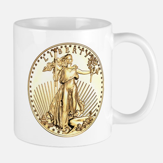 The Liberty Gold Coin Mug