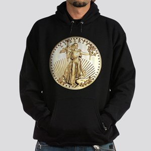 The Liberty Gold Coin Hoodie (dark)
