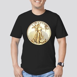 The Liberty Gold Coin Men's Fitted T-Shirt (dark)