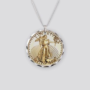 The Liberty Gold Coin Necklace Circle Charm