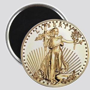 The Liberty Gold Coin Magnet