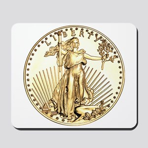 The Liberty Gold Coin Mousepad