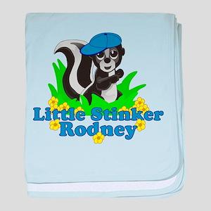 Little Stinker Rodney baby blanket