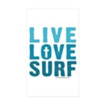 Live Love Surf - Sticker (Rectangle 50 pk)