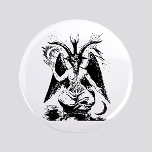 Vintage Black Baphomet Button