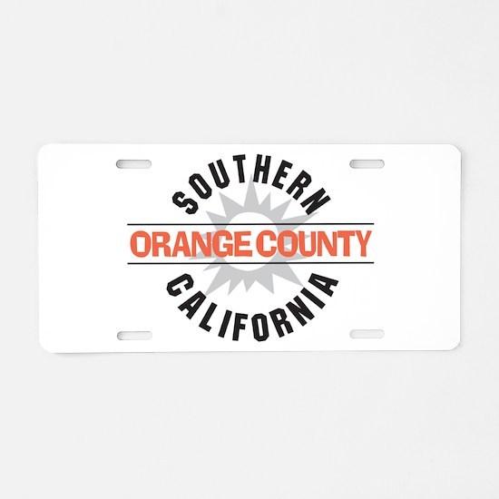Orange County California Aluminum License Plate