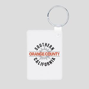 Orange County California Aluminum Photo Keychain