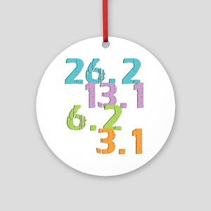 runner distances Ornament (Round)