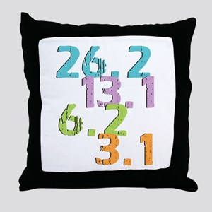 runner distances Throw Pillow