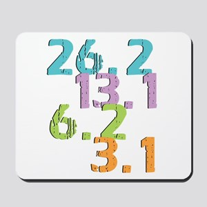 runner distances Mousepad